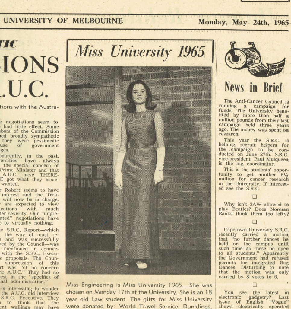 Miss Melbourne Univeristy 196522012015
