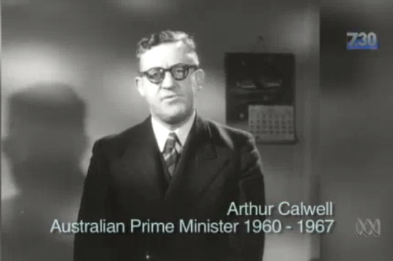 Prime Minister Calwell